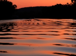 Sunset on Katherine River, Nitmiluk National Park, Northern Territory, Australia.