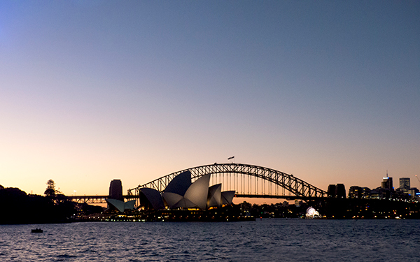 The harbour, the opera house, the bridge, the lights of Luna Park.