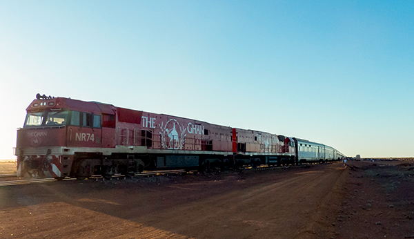 The Ghan at Manguri, South Australia